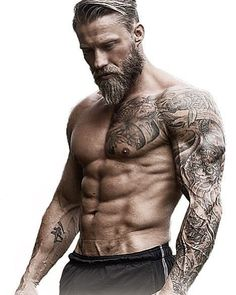 The 10 bearded mistakes to avoid to grow a beautiful beard Les 10 erreurs du barbu à éviter pour faire pousser une belle barbe The 10 bearded mistakes to avoid to grow a beautiful beard Sexy Tattoos, Tattoos For Guys, Forearm Tattoos, Small Tattoos, Viking Tattoos For Men, Mens Body Tattoos, Tribal Tattoos, Bart Tattoo, Beard Haircut