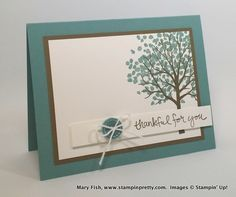 Stampin up stamping pretty stampinup mary fish sheltering tree Mary Fish Stampin Up Karten, Mary Fish, Stampin Pretty, Stampinup, Stamping Up Cards, Pretty Cards, Sympathy Cards, Creative Cards, Greeting Cards Handmade