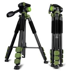 57.12$  Buy now - http://alik1h.worldwells.pw/go.php?t=32695697505 - New Product DPOTORPADP SYS 100 Aluminum Tripod For Camera With 3D Tripod Head 4 Sections Professional Tripod Free Ship By DHL 57.12$