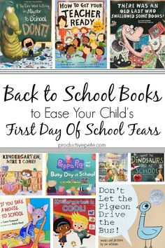 Reading Back to School Books is a great way to calm your child's First Day of School jitters. The list includes Back to School Books for Preschool, Kindergarten, First Grade and Second Grade; as well as Back to School Books for all ages! #backtoschool #firstdayofschool #booksforkids #books