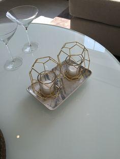 Geometric candle holder