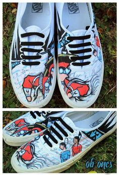 Before you hit the pow wow trail this year, you might be thinking of getting some new shoes. Should you go for comfort or style? How about a little bit of both? Check out the custom artwork on these shoes.