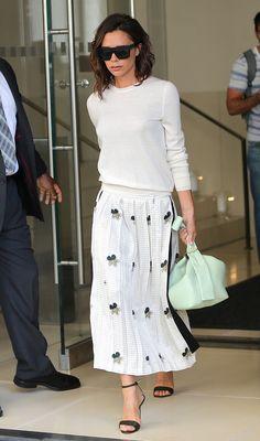 ロングスカート プリーツ オールホワイト