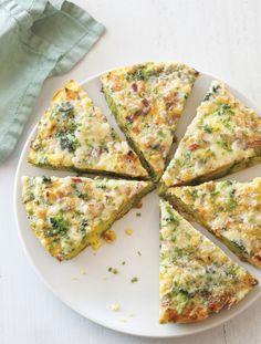 Broccoli & Comté Frittata. A cross between bread pudding and frittata