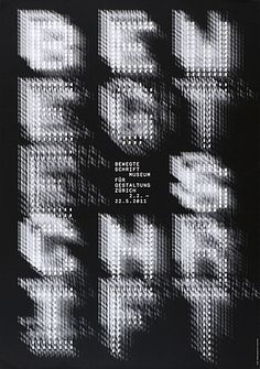 Bewegte Schrift | Philippe Apeloig l F Paris | Museum für Gestaltung Zürich http://www.100-beste-plakate.de/2011/bildschau_11.htm