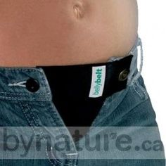 Maternity Belly Belt that attaches to your pants. This is such a good idea, if it actually works... you wouldn't have to get all new clothes. #maternityclothes