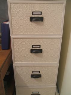 Wallpaper & redo metal filing cabinet~m