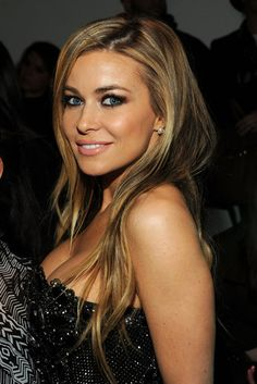 Carmen Electra: Carmen Electra attended The Blonds energetic show with tousled hair and a sexy smoky eye.