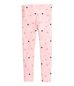 Leggings in soft jersey made from an organic cotton blend with an elasticated waist. Cute Dresses For Teens, Cute Little Girls Outfits, Little Boy Fashion, Kids Outfits Girls, Girly Outfits, Fashion Kids, Toddler Outfits, Girls In Leggings, Pink Leggings