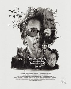 Movie Director Portrait: Tim Burton by Stellavie & Julian Rentzsch. Illustration