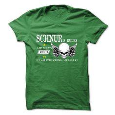 I Love SCHNUR Rules T shirts
