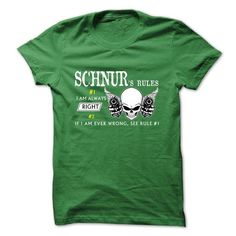 I Love SCHNUR Rules T shirts