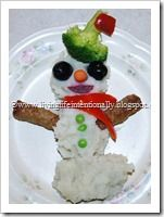 mashed potato bar S is for Snowman