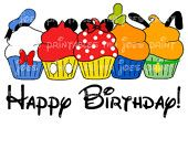 Happy Birthday Donald Cupcake Printable Fab Five DIY Disney Iron Transfer Pillowcase Mickey and friends Minnie Goofy Pluto. $5.00, via Etsy.