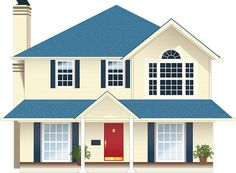 Casa, Residência, Blue