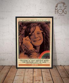 Janis Joplin- Quote Retro Poster - Music Legends Series