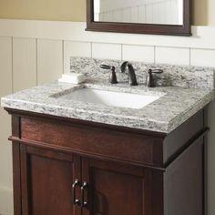 Home Decorators Collection 37 In. W X 19 In. D Granite Vanity Top In Santa  Cecilia With White Single Trough Basin