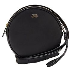 Pre-owned Vince Camuto Brena- Circular Black Matte Cross Body Bag (8.695 RUB) ❤ liked on Polyvore featuring bags, handbags, shoulder bags, black matte, travel shoulder bags, crossbody handbags, wristlet crossbody, travel purse crossbody and vince camuto crossbody