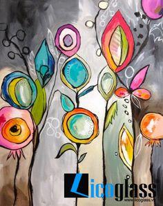 - Teresa McFayden - Like this creative art journal page! Kunstjournal Inspiration, Art Journal Inspiration, Painting Inspiration, Silk Painting, Painting & Drawing, Painting Flowers, Flower Paintings, Arte Floral, Art Journal Pages