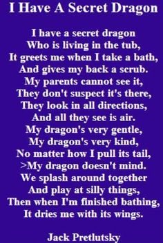 I have a secret dragon 🐉 Dragon Poems, Dragon Quotes, Dragon Heart, Baby Dragon, Butterfly Dragon, Dragon Dreaming, Avatar Picture, Poetry For Kids, Dragon Birthday