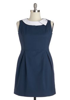 Extraordinary Executive Dress. Dress for the job of your dreams by donning this navy dress by Myrtlewood! #blue #modcloth