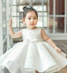 White Flower Girl Dress-Chic & Elegant White Ruffle Baby Girl Party Dress Perfect dress for wedding, brithday, baptism, communion or any special occasion. Available from 3 month until 12 years old. 1st Birthday Dresses, Baby Girl Party Dresses, Baby Dress, Girls Dresses, Ruffle Dress, Girl Birthday, Dress Skirt, Girls White Dress, White Flower Girl Dresses