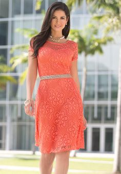 Floral Lace Overlay Dress #CatoFashions I have this dress and love it!