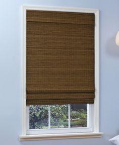Home Basics Cordless Woven Bamboo Zigzag Roman Shades - Window Treatments - For The Home - Macy's Custom Drapes, Blinds For Windows, Bamboo Shades, Window Treatments, Shades Blinds, Bamboo Roman Shades, Small Bathroom Window, Window Shades, Home Basics