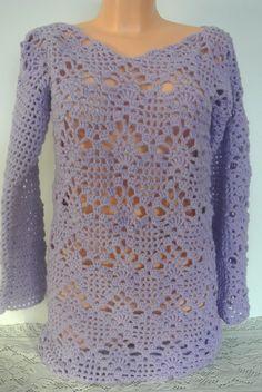 FIALOVÝ NÁDECH fialová svetr dámy Sweaters, Tops, Women, Fashion, Rectangular Rugs, Crochet Doll Clothes, Moda, Fashion Styles, Sweater