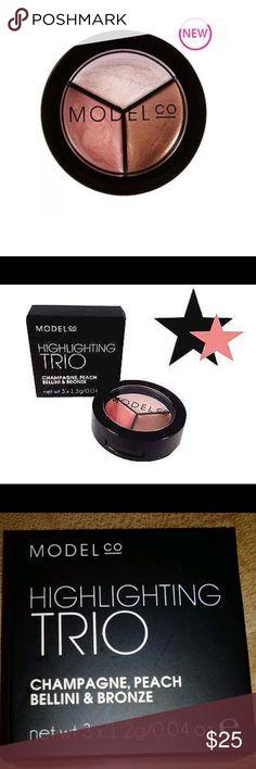 ModelCO Highlighting trio Champagne, peach Bellini & bronze! Brand new in box Sephora Makeup Bronzer