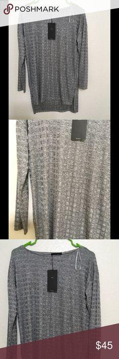 Zara Gray Dress/Tunic Beautiful fabric, Brand new, M size. It is even nicer in person👍 Zara Dresses Mini