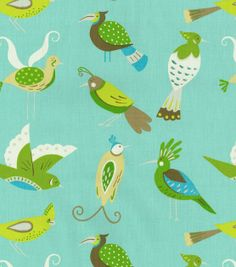 Home Decor Print Fabric- Waverly For the Birds/Meadow, , hi-res