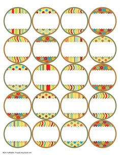 7 Free Printable Canning Jar Labels: Brights Top Labels Pot Mason, Mason Jar Lids, Mason Jar Crafts, Printable Recipe Cards, Printable Labels, Free Printables, Canning Jar Labels, Spice Jar Labels, Canning Recipes
