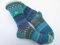 Socken - Bunte Socken Julitta Gr. 39/40 - ein Designerstück von Lotta_888 bei DaWanda