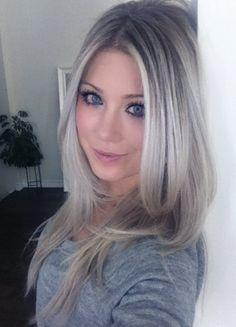 cold blonde grey hair - Google-søk                                                                                                                                                     More