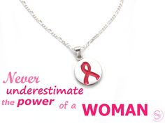 Breast Cancer Awareness www.sylviabarcena.com jewelry design store silver chain necklace pink