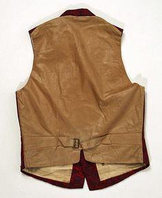 Waistcoat  Date: ca. 1840 Culture: American Medium: wool