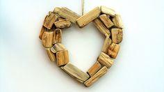 Dřevěné, Srdce, Láska, Šťastný