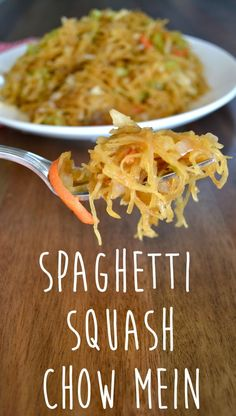 Spaghetti Squash Chow Mein// super easy to whip together a cheap too!