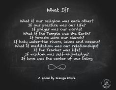 """Please comment """"a few words"""" if you are going to repost.I would really like to read your words.There are a couple different ways to read in to this and my first was Native Americans.But if the whole world did it looking at all the good that would come from it.Just """" a few words"""" please."""