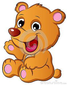 Cute Cartoon Bear Cub Vector Illustration.