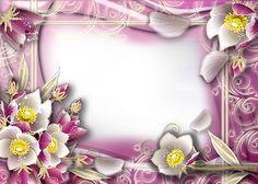 Frames PNG flores #3 | Imagens para photoshop
