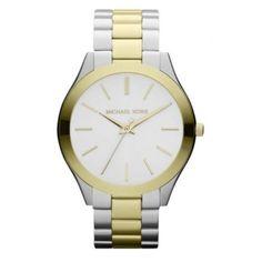 Reloj Michael Kors Slim Runway ac dorado
