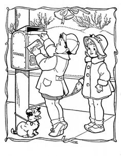 Merry christmas coloring pages quiet boy Coloring Pages For Boys, Coloring Book Pages, Coloring Sheets, Merry Christmas Coloring Pages, Vintage Coloring Books, Christmas Colors, Primitive Christmas, Country Christmas, Christmas Christmas