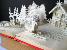 Altered Book - Christmas Theme