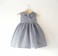 Pippa Stripe Toddler Baby Occasion Dress by Iva NOva