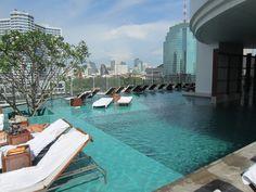 Pool at Millenium Hilton Hotel http://www3.hilton.com/en/hotels/thailand/millennium-hilton-bangkok-hotel-BKKHITW/index.html