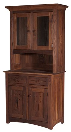 Florence China Cabinet in Natural Walnut #chinacabinet