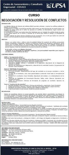 CENACE - UPSA - Curso Negociacion y Resolucion de Conflictos