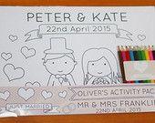 15% OFF Personalised Wedding Childrens Activity Pack door GWPrints